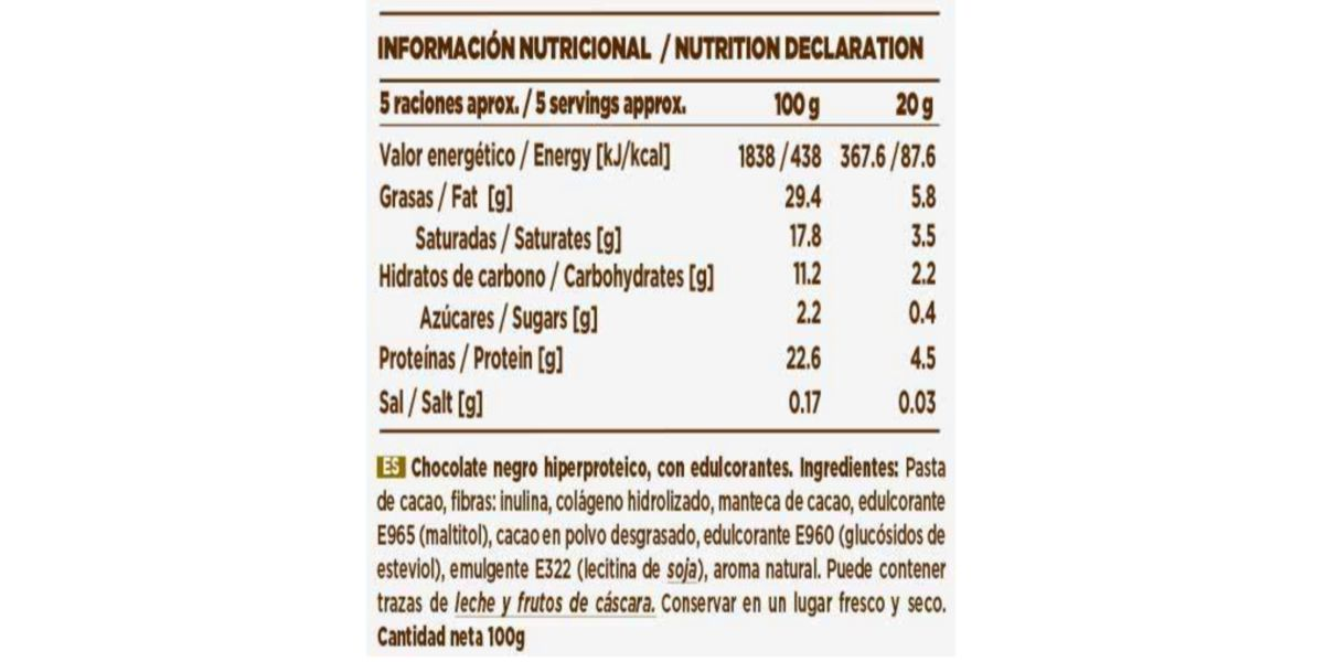 Etiqueta Tableta de Chocolate de HSN