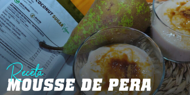 Mousse de Pera con Azúcar de Coco