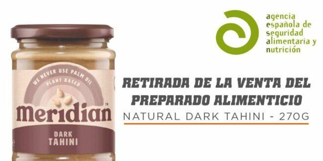 Retirada de la Venta de Complemento Alimenticio: Natural Dark Tahini 270g