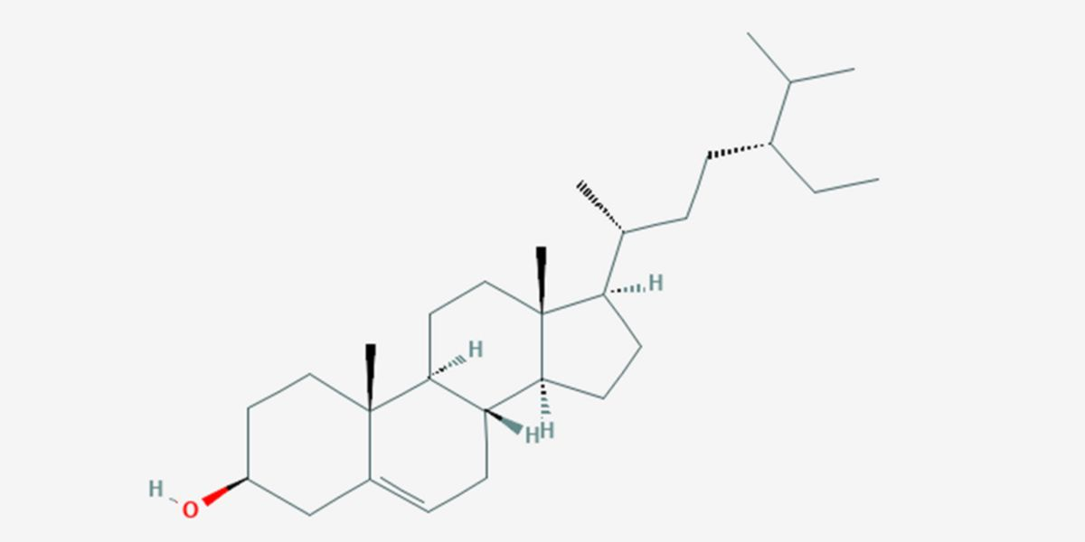 Estructura química del beta-sitosterol.