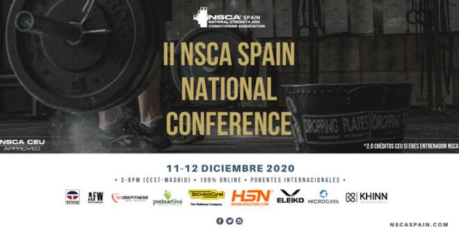 Llega la II NSCA Spain National Conference con una apuesta por el formato virtual