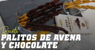 Palitos de Avena y Chocolate