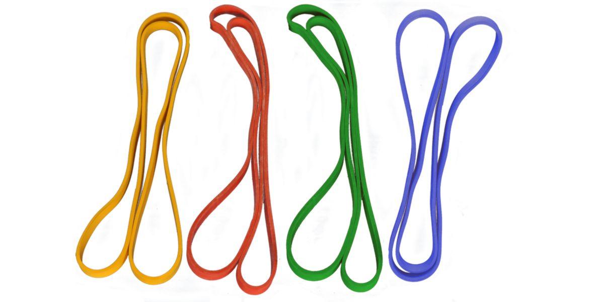 Bandas elásticas según el color