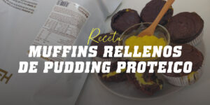Muffins rellenos de proteína