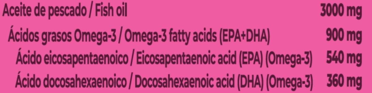 Etiqueta Aceite de Pescado Omega-3