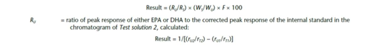 Fórmula de la medición del porcentaje de ácidos grasos en masa