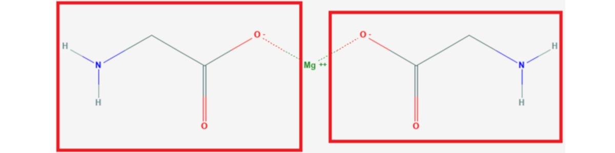 Representación bisglicinato de magnesio