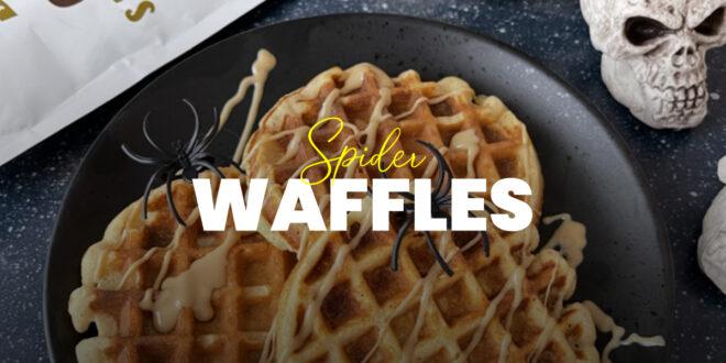 Spider Waffles para Halloween