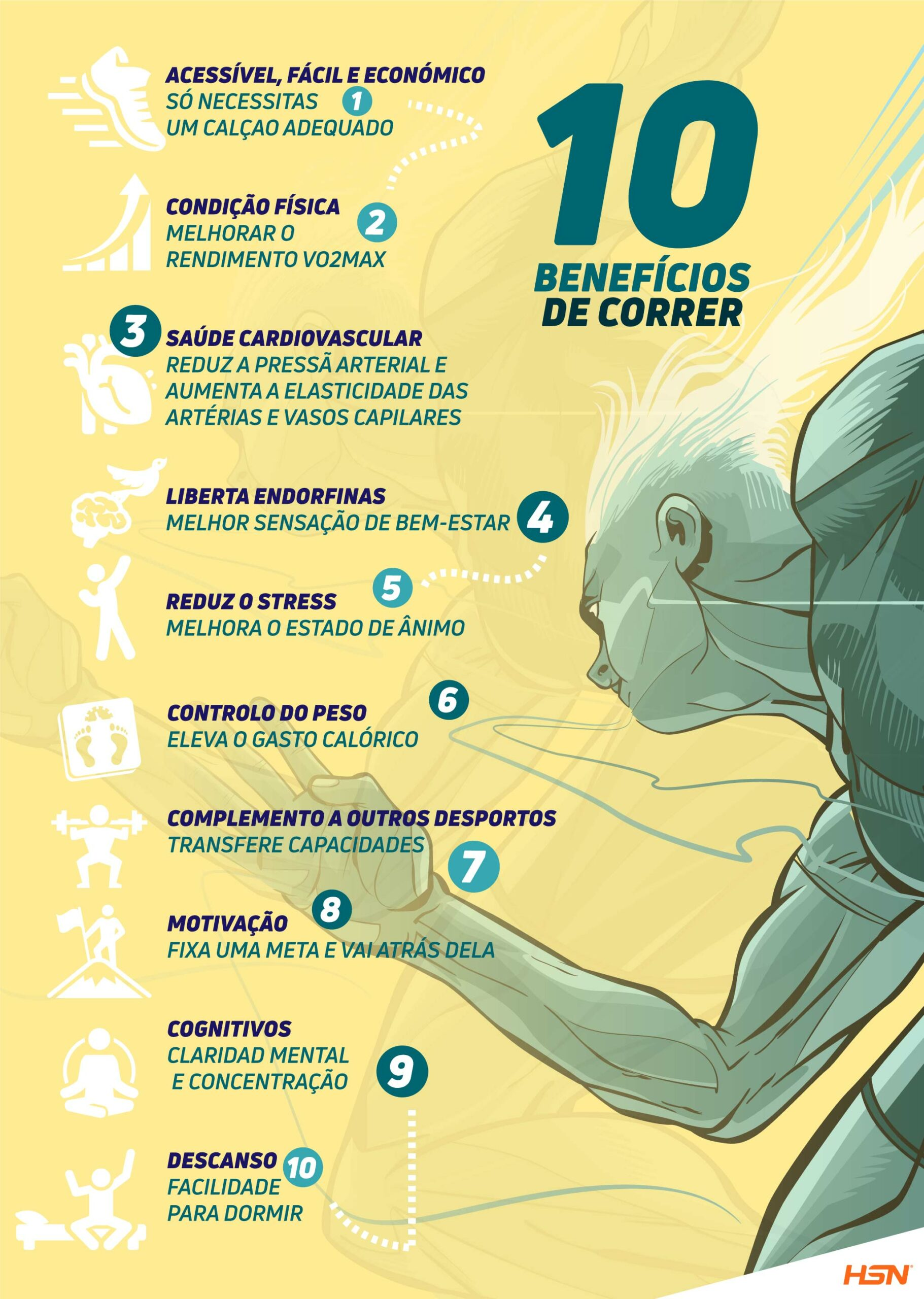 Info 10 beneficios correr