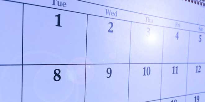Calendario desportivo