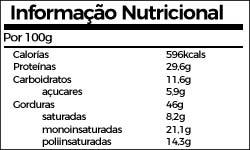 Informaçao Nutricional Creme de Amendoim
