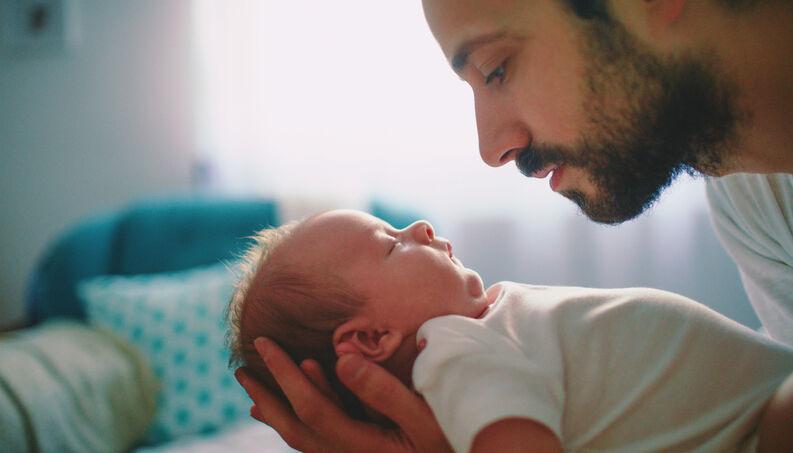 pai filho bebe