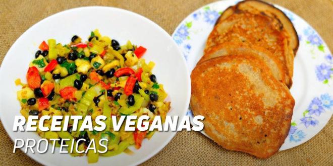 Receitas veganas altamente proteicas
