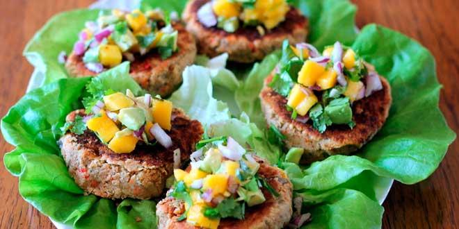 hamburguer vegano con quinoa