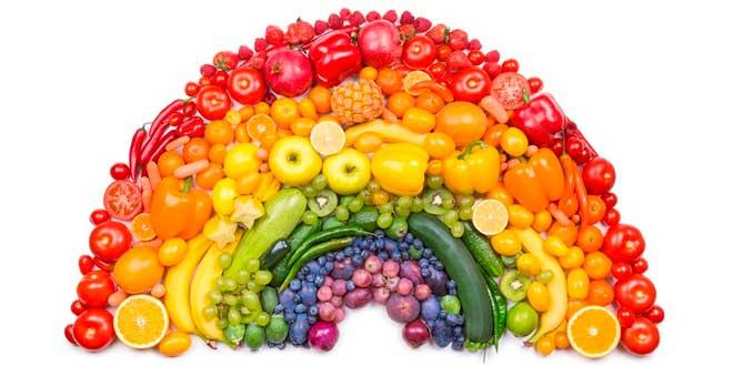 cores frutas e verduras