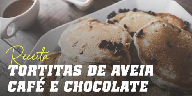 Panquecas de Aveia com Café e Chips de Chocolate