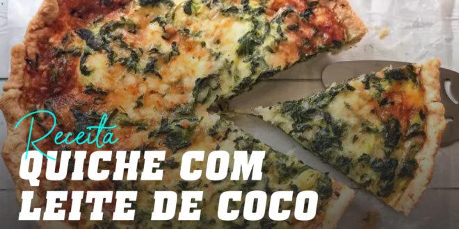 Quiche com Leite de Coco e Verduras