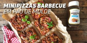 minipizzas barbacue pão de molde
