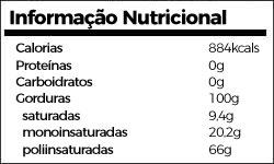 informação nutricional óleo linhaça