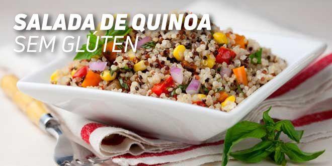 Salada de Quinoa de Cores Sem Glúten