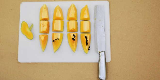 Papaia na cozinha