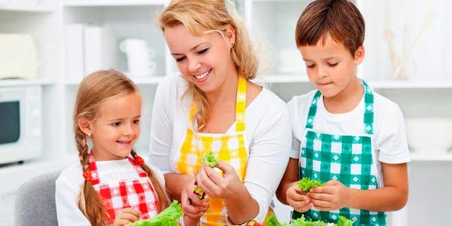 pais filhos alimentação