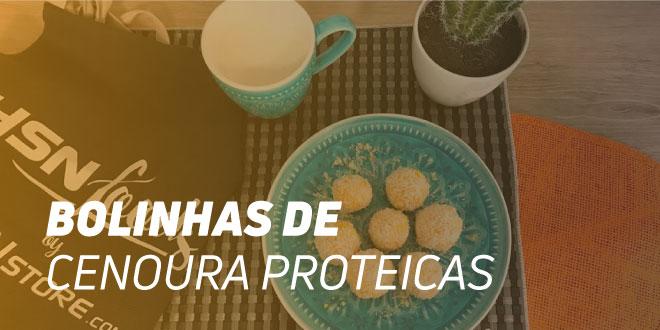 Bolinhas de Cenoura e Coco Proteicas