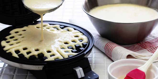 como fazer waffles saudáveis