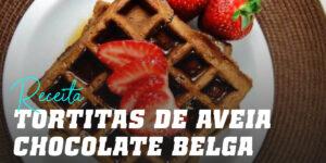 Panquecas de Aveia para Gofres com Chocolate Belga