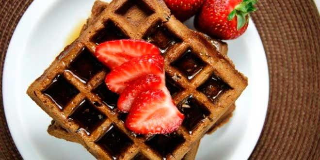 Waffles com Chocolate Belga sem açúcar