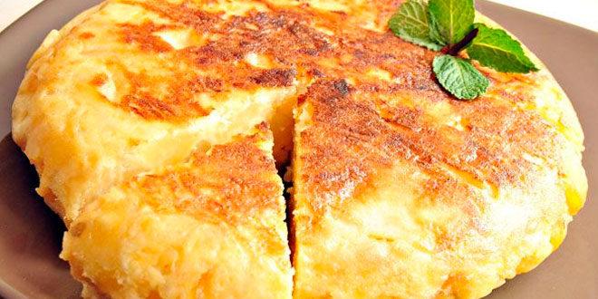Receita Tortilha de Batatas Fitness