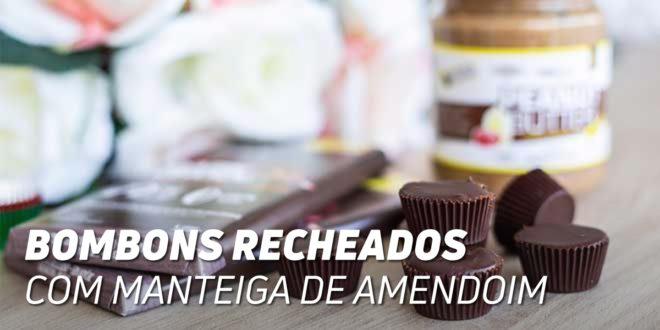 Bombons de Chocolate recheados de Manteiga de Amendoim