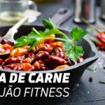 carne com feijão fitness