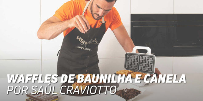 Waffles de Baunilha e Canela, por Saúl Craviotto