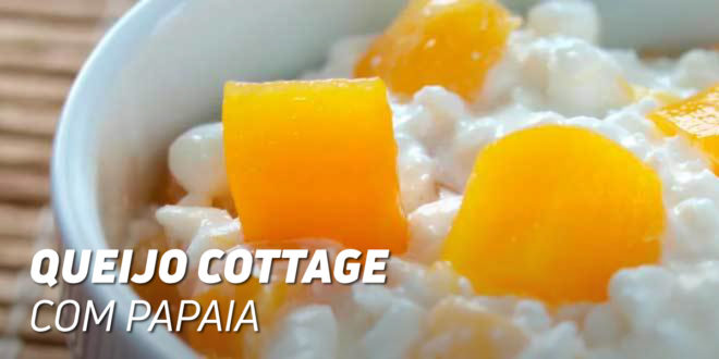 Queijo Cottage com Papaia