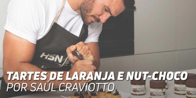 Tartes aromatizadas com laranja e recheadas de Nutchoco, por Saúl Craviotto