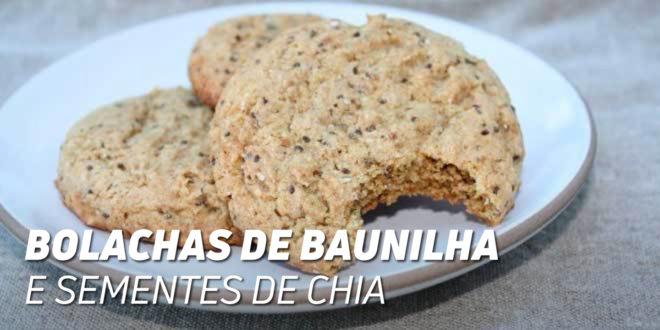 Bolachas de Baunilla e Semente de Chia