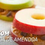 maçã manteiga amendoa