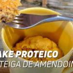 mug cake proteico amendoim