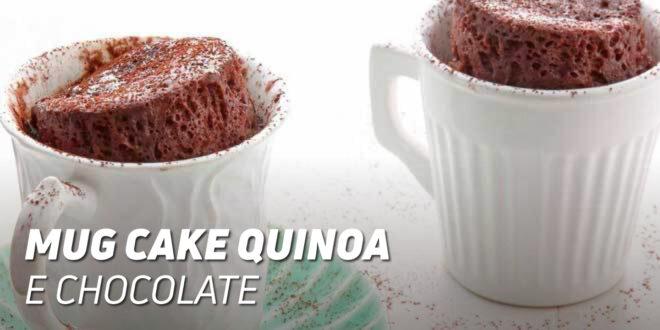 Mug Cake de Quinoa e Chocolate