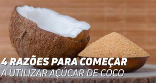 razões mudar açucar coco
