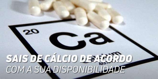 Sales de Cálcio de acordo com a sua Biodisponibilidade