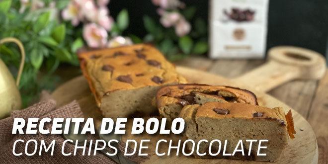 Bolo com Chips de Chocolate