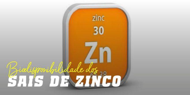 Sais de Zinco segundo a Biodisponibilidade