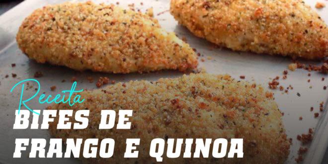 Bifes de frango Crocantes com Quinoa