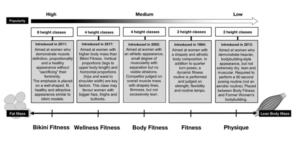 Categorias fitness