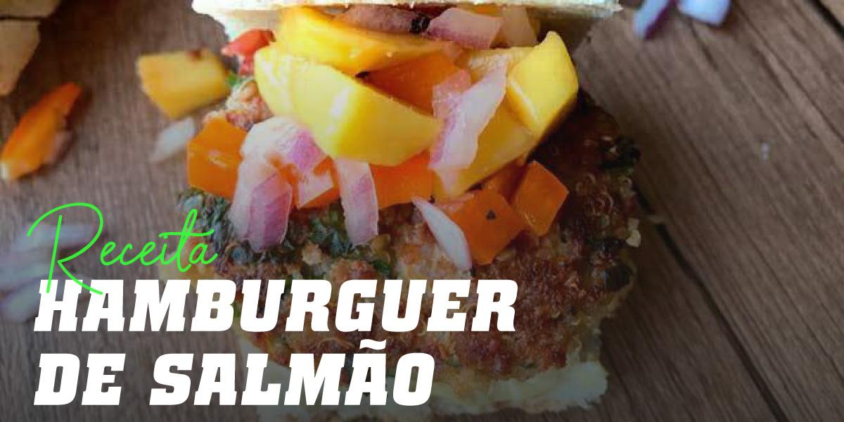 Hambúrguer de Salmão com Manga