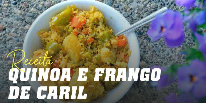 Quinoa com Frango de Caril