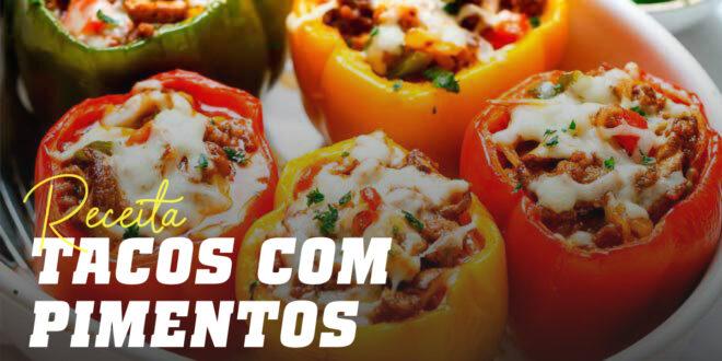 Tacos Mexicanos com Pimentos Assados