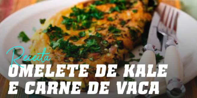 """Tortilla"" de Kale e Carne de Vaca"